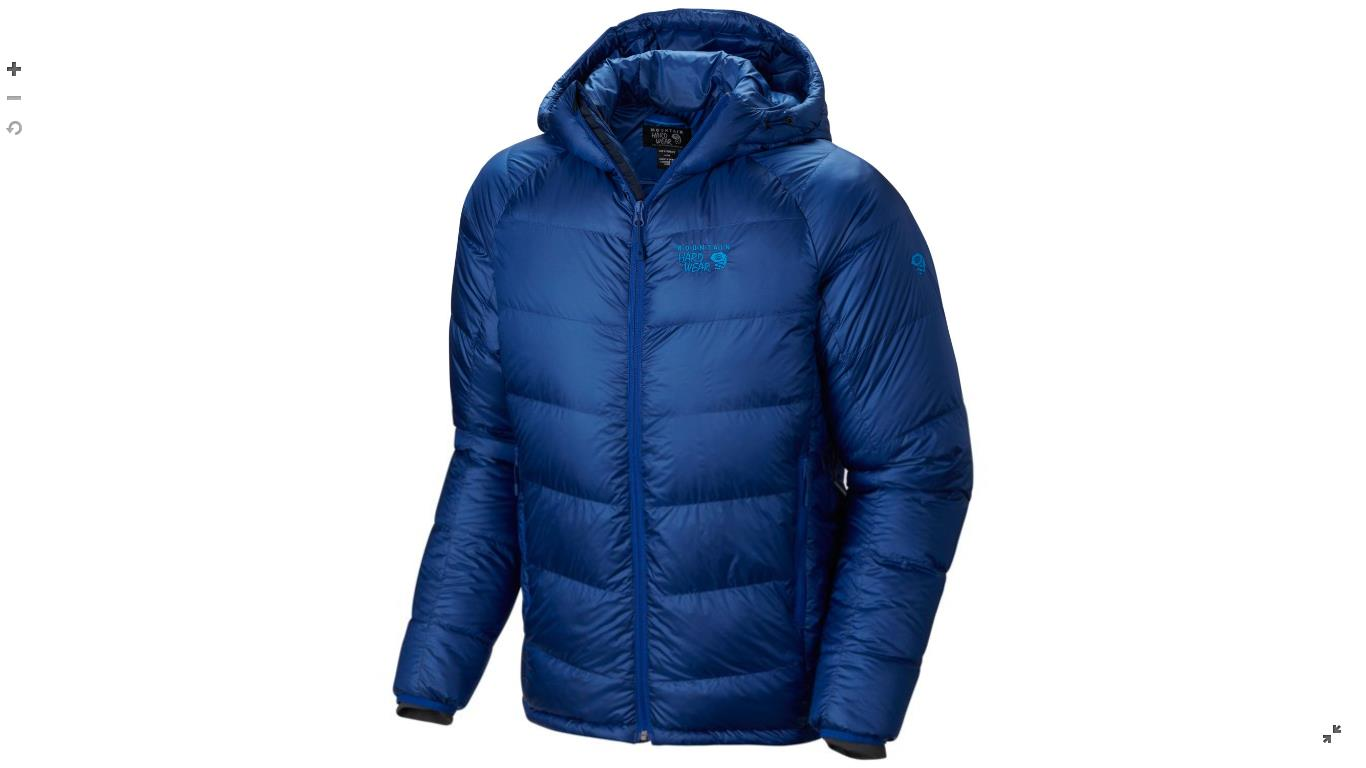 Mountain Hardwear Mens Phantom™ Hooded Down Jacket Azul