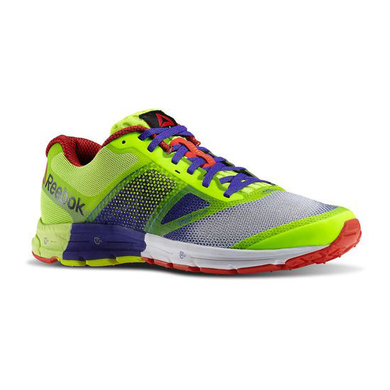 REEBOK WOMEN'S RUNNING REEBOK ONE CUSHION 2.0  Ultima Purple / Solar Yellow / White / Red