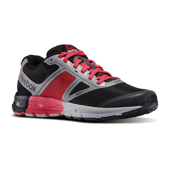REEBOK WOMEN'S RUNNING REEBOK ONE CUSHION 2.0 CITY LIGHTS Silver Met / Black / Blazing Pink / Solar Yellow