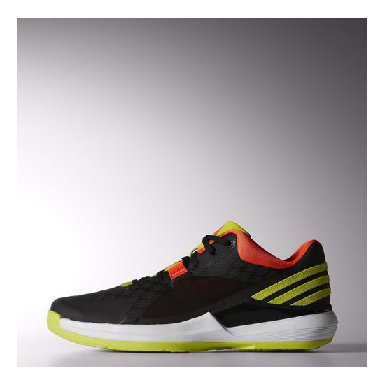Men's Adidas Basketball Crazy Strike Low Shoes Core Black / Semi Solar Yellow / Infrared