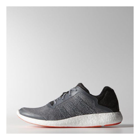 Men's Adidas Running Pureboost Shoes Dark Grey Heather