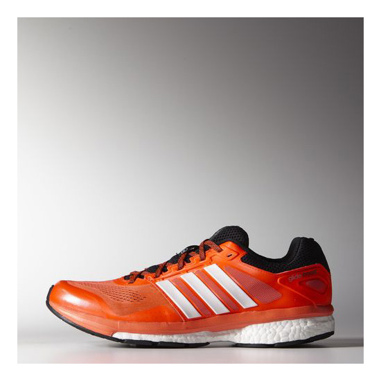 Men's Adidas Running Supernova Glide Boost 7 Shoes Solar Red