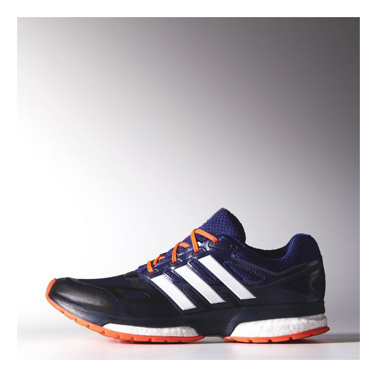 Men's Adidas Running Response Boost Techfit Shoes Collegiate Navy / Amazon Purple / Infrared