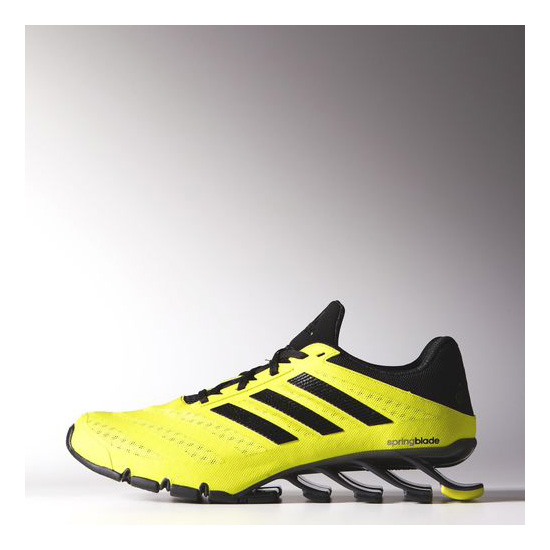Men's Adidas Running Springblade Ignite Shoes Semi Solar Yellow / Core Black / Iron Metallic
