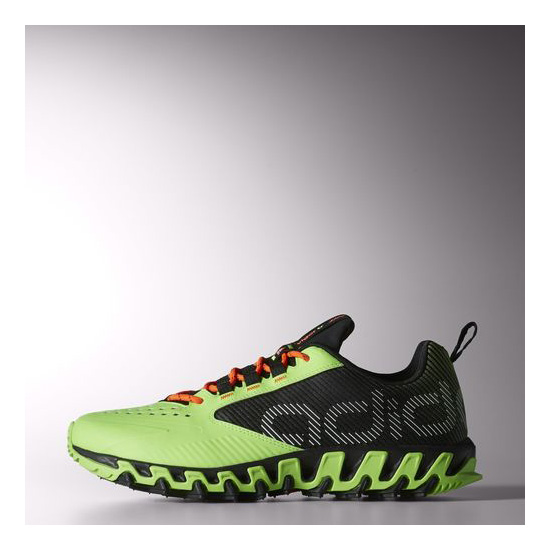 Men's Adidas Running Vigor 5 Shoes Core Black / Neon Green / Infrared