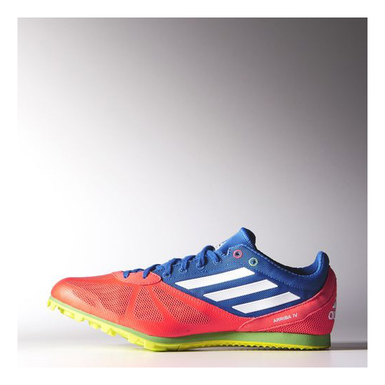 Men's Adidas Running Arriba 4 Spikes Solar Red / Running White / Air Force Blue