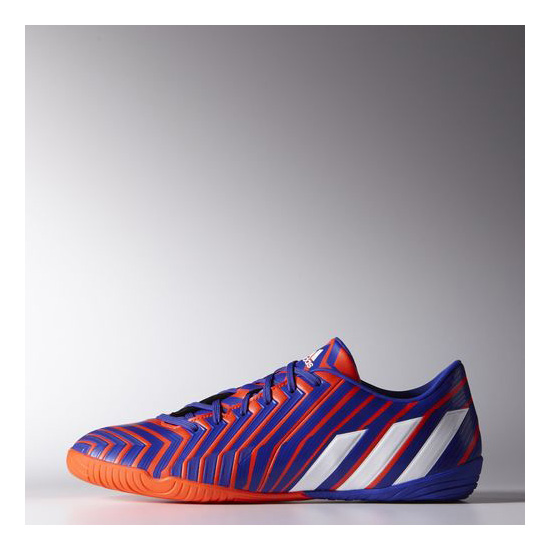 Men's Adidas Soccer Predator Absolado Instinct IN Shoes Solar Red / Running White / Night Flash