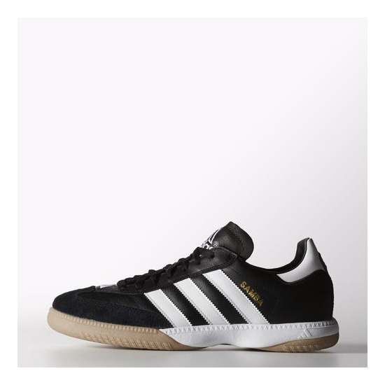 Men's Adidas Soccer Samba Millennium Leather IN Shoes Black