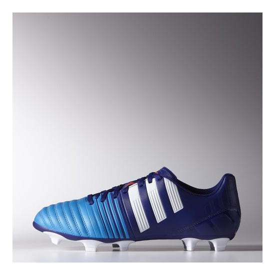 Men's Adidas Soccer Nitrocharge 4 FG Cleats Amazon Purple / Running White / Solar Blue