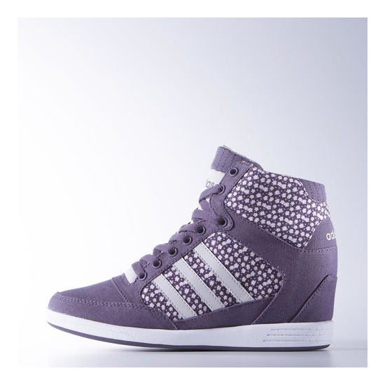 Women's Adidas Neo Super Wedge Shoes Ash Purple