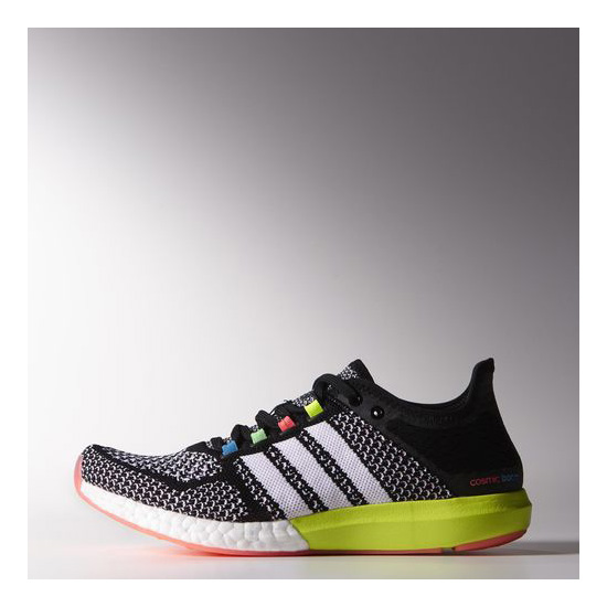 Women's Adidas Running Climachill Cosmic Boost Shoes Core Black / Running White / Solar Blue