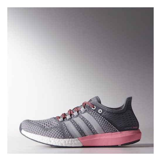 Women's Adidas Running Climachill Cosmic Boost Shoes Grey / Light Grey