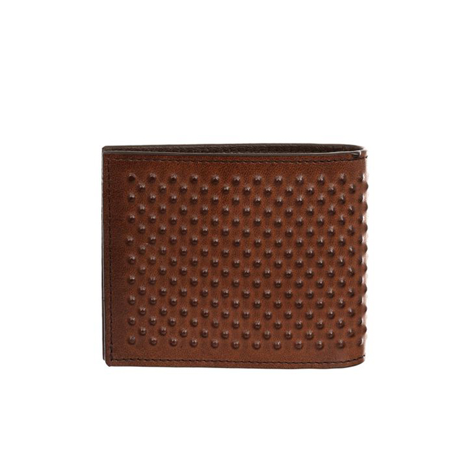 ALEXANDER MCQUEEN LEATHER NOTES CLIP WALLET