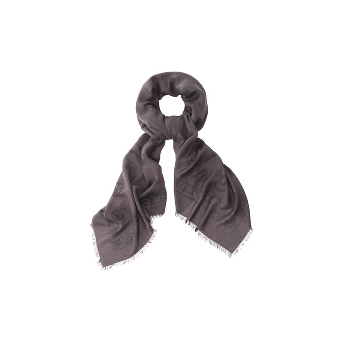 ALEXANDER MCQUEEN TWO-TONE SKULL SHAWL