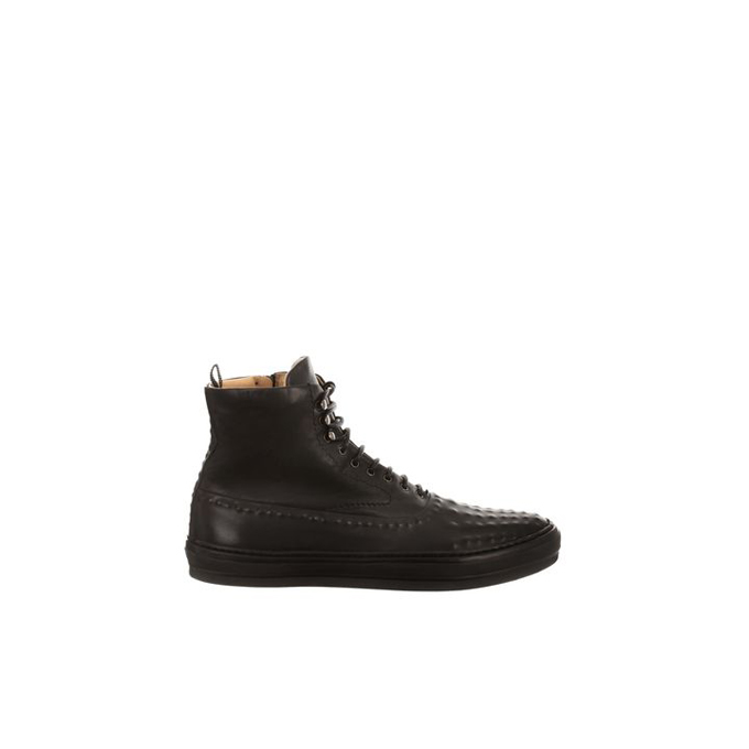 ALEXANDER MCQUEEN LEATHER VACUUM STUDDED HIGH-TOPS