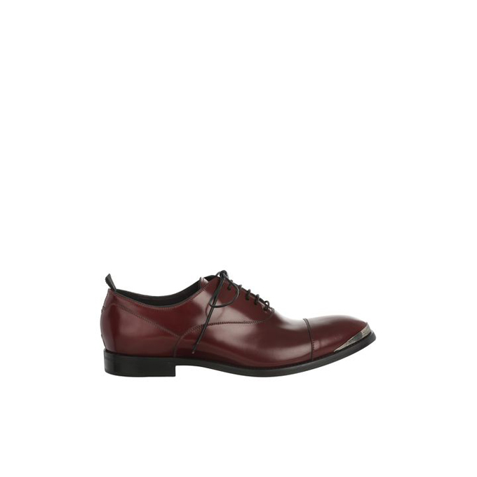 ALEXANDER MCQUEEN ENGRAVED TOE-CAP OXFORDS