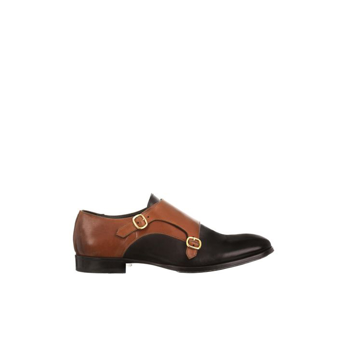 ALEXANDER MCQUEEN ALBERT BI-COLOR DOUBLE BUCKLE SHOE
