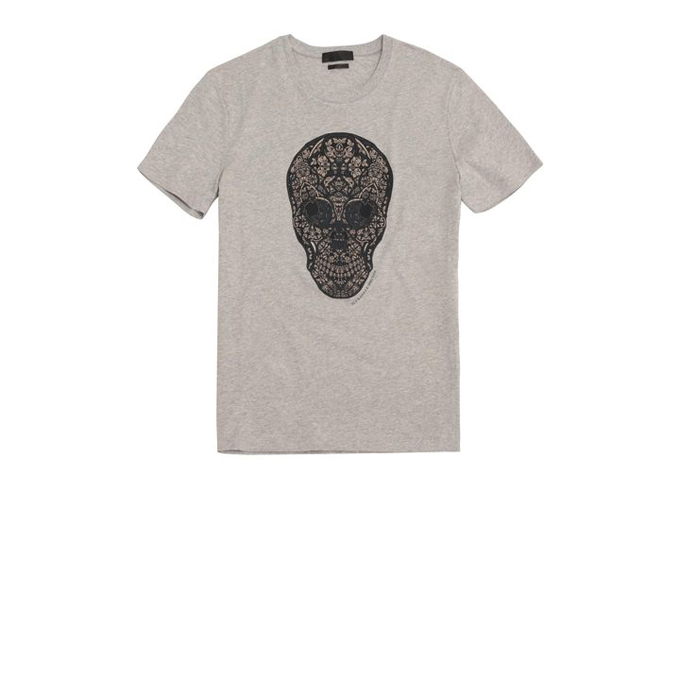 ALEXANDER MCQUEEN STAINED GLASS SKULL PRINT T-SHIRT