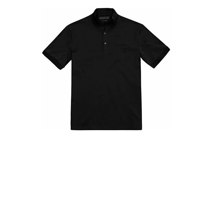 ALEXANDER MCQUEEN PIQUET COTTON EMBROIDERED SKULL POLO-SHIRT