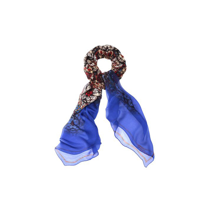 ALEXANDER MCQUEEN CIRCULAR STAINED GLASS SCARF