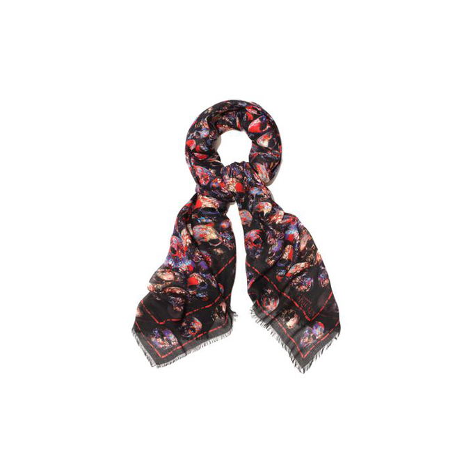 ALEXANDER MCQUEEN STAINED GLASS CATACOMB SKULL SCARF