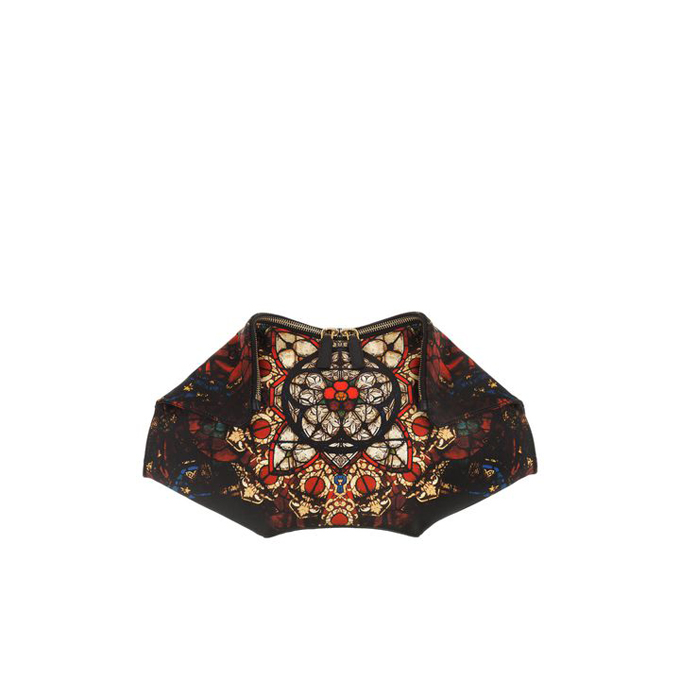 ALEXANDER MCQUEEN BLEEDING STAINED GLASS PRINT DE MANTA CLUTCH