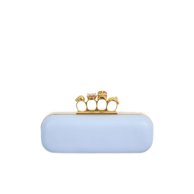 ALEXANDER MCQUEEN LEATHER KNUCKLEBOX CLUTCH