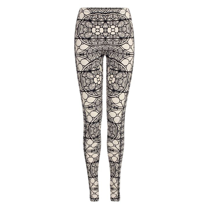ALEXANDER MCQUEEN STAINED GLASS PRINT LEGGINGS