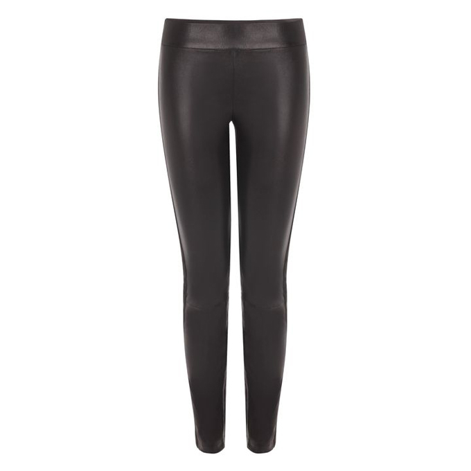 ALEXANDER MCQUEEN TUXEDO LEATHER TROUSERS