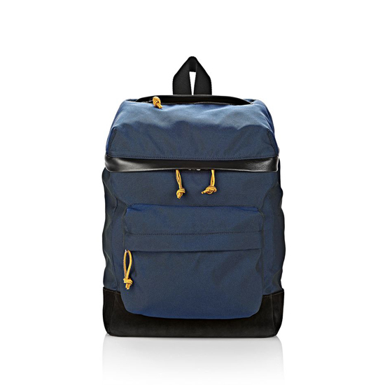 DARK BLUE ALEXANDER WANG WALLIE BACKPACK IN NEPTUNE CANVAS WITH RHODIUM