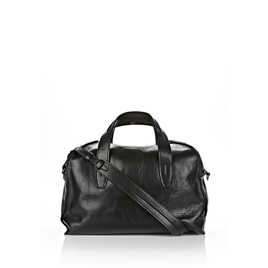 BLACK ALEXANDER WANG INSIDE-OUT SMALL DUFFLE IN BLACK WITH RHODIUM