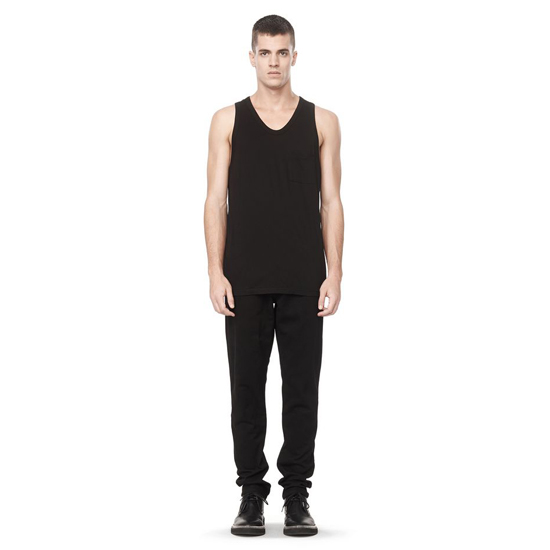 BLACK ALEXANDER WANG CLASSIC TANK WITH POCKET