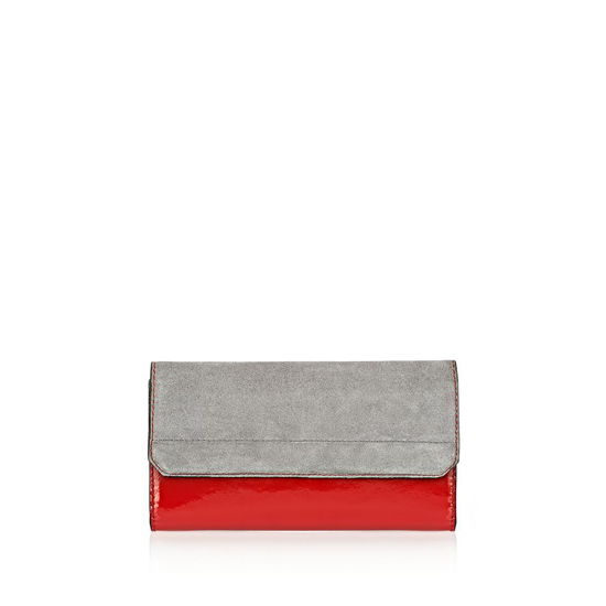 MULTICOLORED ALEXANDER WANG CHASTITY CONTINENTAL WALLET IN PAVEMENT WITH RHODIUM