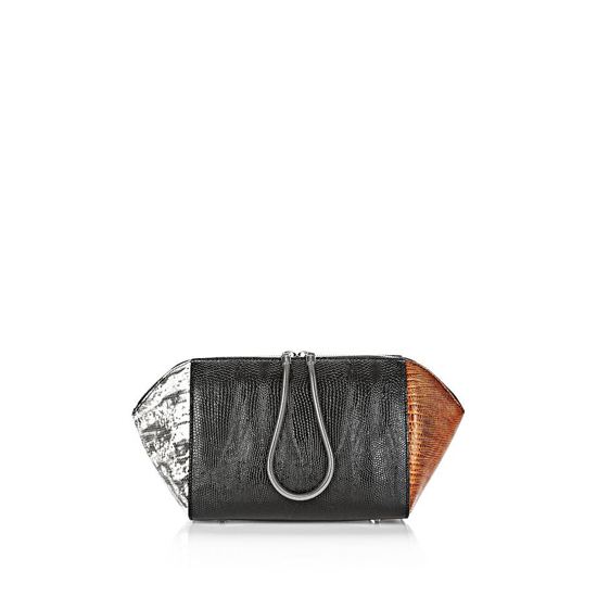 MULTICLR ALEXANDER WANG LARGE EMBOSSED CHASTITY MAKEUP POUCH IN TRICOLOR