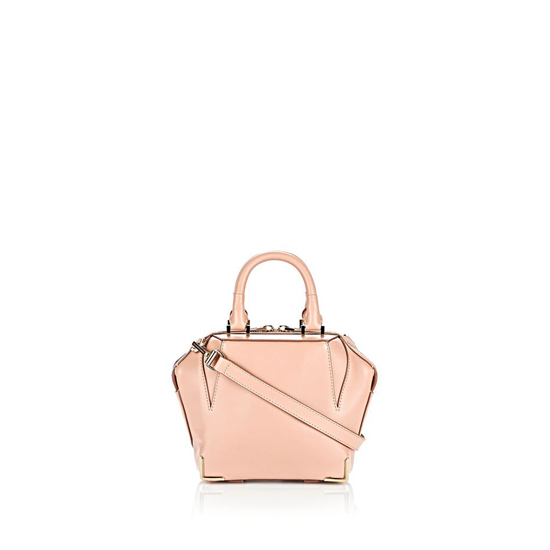 LIGHT PINK ALEXANDER WANG MINI SKELETAL EMILE IN BLUSH WITH PALE GOLD