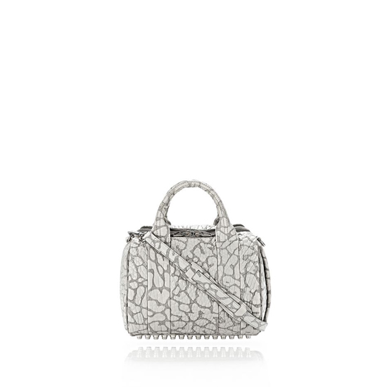 GRAY ALEXANDER WANG LASER CUT ROCKIE IN LIGHT CONCRETE WITH RHODIUM