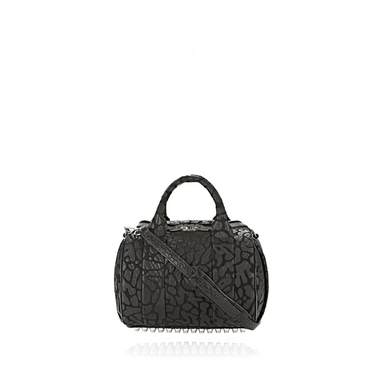 BLACK ALEXANDER WANG LASER CUT ROCKIE IN BLACK WITH RHODIUM