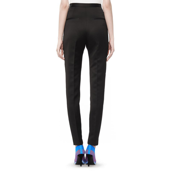 BLACK ALEXANDER WANG HIGH WAISTED PANT WITH SNAP DETAIL