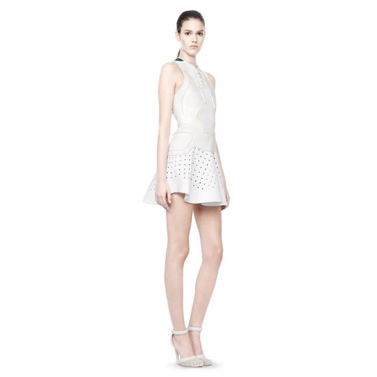 WHITE ALEXANDER WANG SNEAKER LACE-UP DRESS