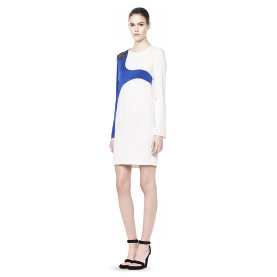 MULTICOLOR ALEXANDER WANG LONG SLEEVE LASERCUT AND WELDED DRESS