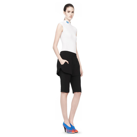 BLACK ALEXANDER WANG HYBRID KNIT SHORT