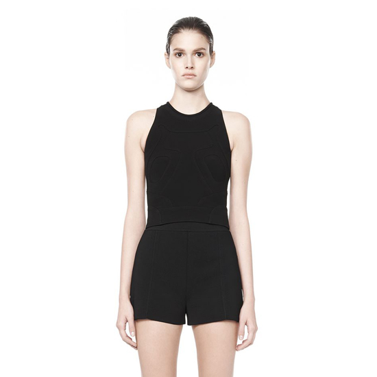 BLACK ALEXANDER WANG SNEAKER SHELL TOP