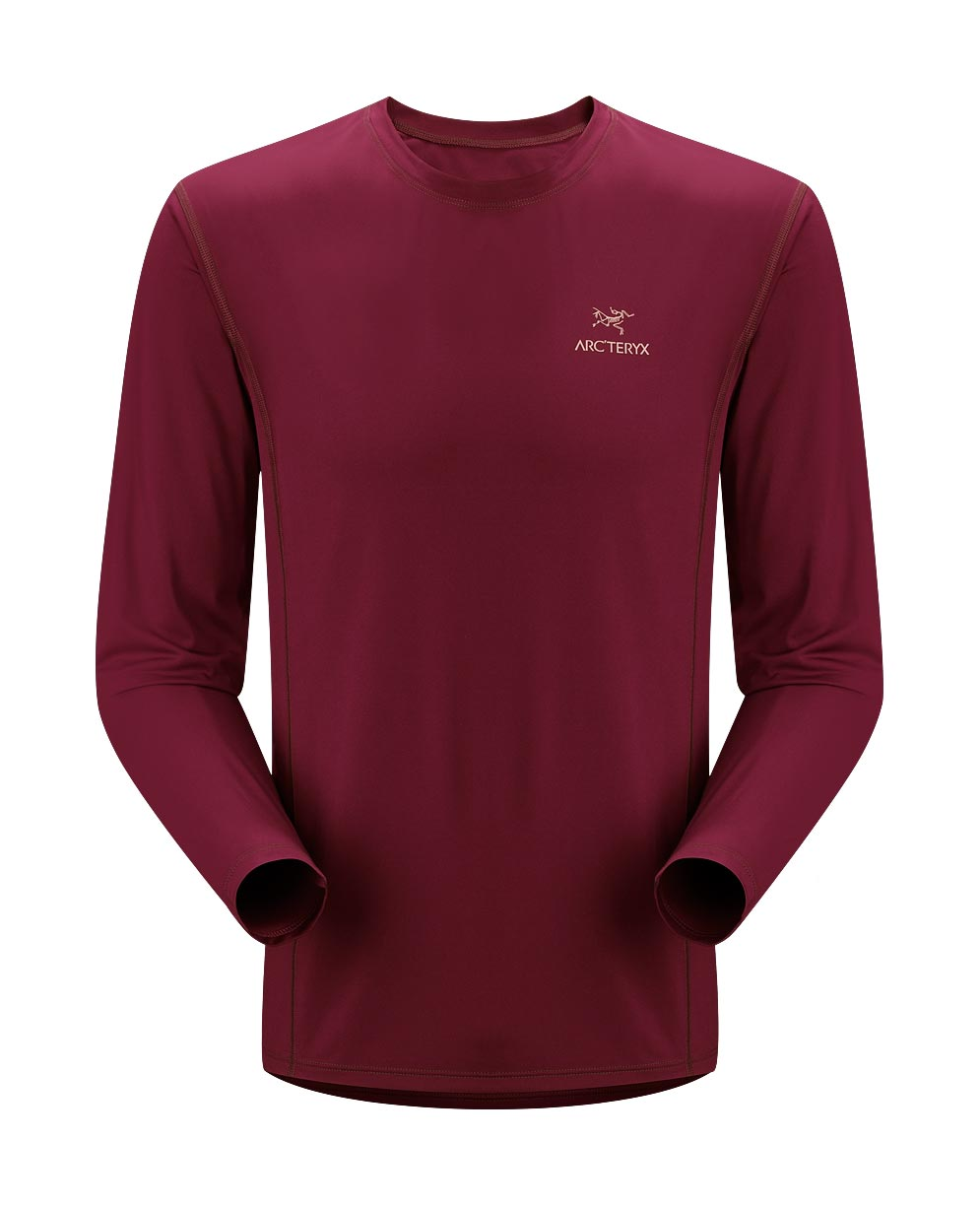 Arcteryx Men Tibetan Red Ether Crew LS