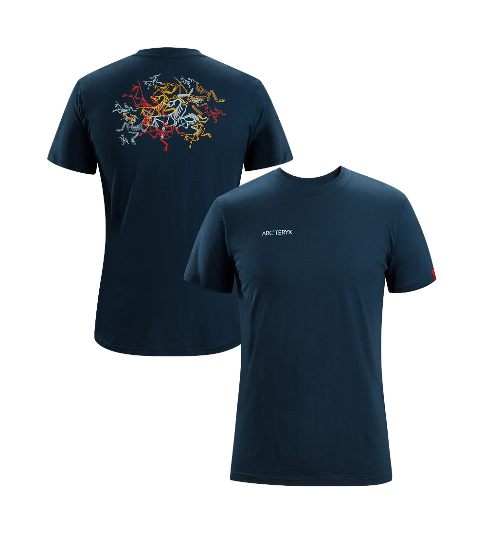 Arcteryx Men Blue Moon Multi Bird T-Shirt - New