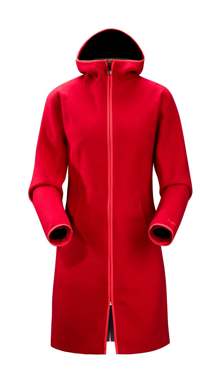 Arcteryx Jackets Women Candy Apple Red Lanea Long Coat