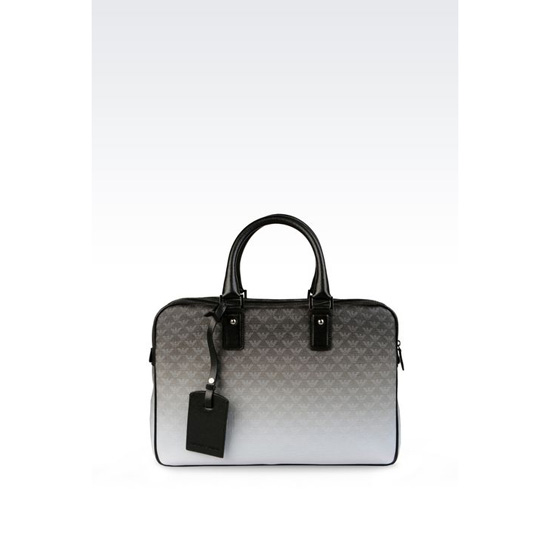 ARMANI BRIEFCASE IN LOGOED PVC