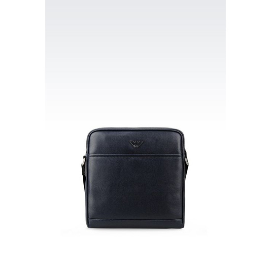 ARMANI SHOULDER BAG IN SAFFIANO CALFSKIN