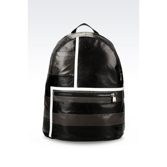ARMANI LEATHER BACKPACK