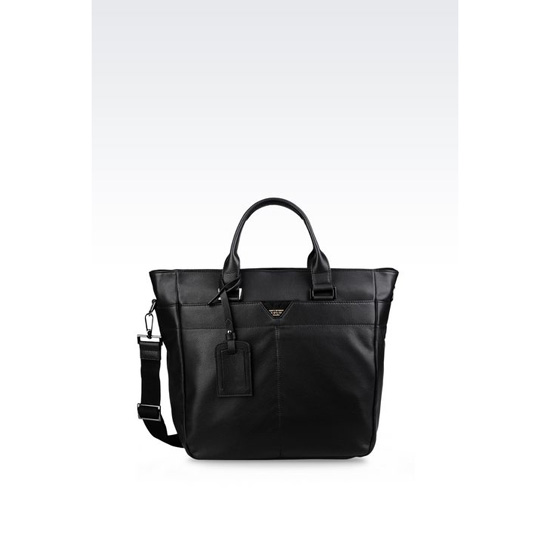 ARMANI SHOULDER BAG IN CALFSKIN