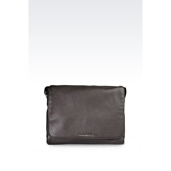 ARMANI MESSENGER BAG IN TUMBLED CALFSKIN